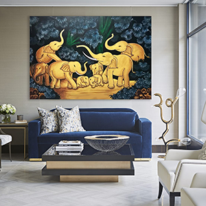 Large Elephant Artwork
