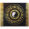 contemporary painting contemporary abstract art yin yang art yin yang painting yin yang wall art yin yang artwork thai art gold leaf art gold leaf artwork