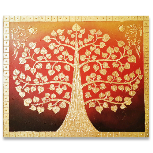 Oriental Decor Banyan Tree Painting