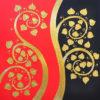 oriental artwork oriental canvas painting oriental paintings framed oriental wall art oriental art paintings bodhi leaf thai art gold leaf art gold leaf artwork