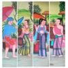 folk art folk art painting folk art acrylic paint folk painting thai art thai painting thai artwork traditional thai painting multi panel wall art