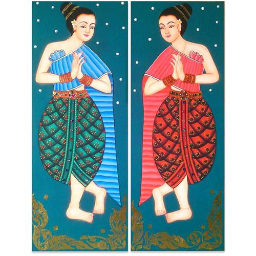 thai decor thai wall art thai home decor thai wall art decor thai style decor thai art thai painting thai artwork traditional thai painting