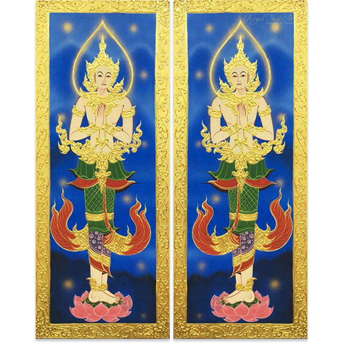 asian wall art asian wall decor asian inspired wall art asian canvas wall art oriental wall art panels thai art thai painting thai artwork traditional thai painting 2 piece canvas wall art