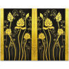 lotus painting lotus flower painting chinese lotus painting 2 piece canvas wall art gold leaf paint gold leaf wall art gold leaf artwork thai art thai painting