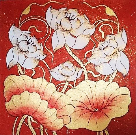 lotus flower art water lily painting lotus painting water lily drawing lotus flower lotus drawing lotus art lotus illustration lotus wall art lotus flower artwork chinese lotus painting
