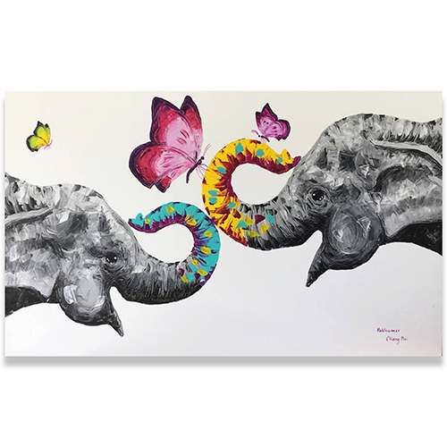 elephant oil painting elephant painting suda the elephant colorful elephant art colorful elephant painting colorful elephant painting on canvas