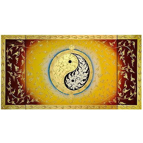 yin yang large abstract canvas art yin yang art yin yang painting yin yang wall art yin yang artwork gold leaf paint gold leaf wall art gold leaf artwork