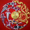 famous koi fish painting famous koi fish artist famous koi painting koi fish painting koi painting thai art gold leaf art gold leaf artwork