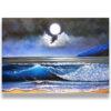 full moon scenery ocean oil painting moonlight night landscape painting moonlight scenery paintings moonlight landscape painting ocean wave painting ocean oil painting