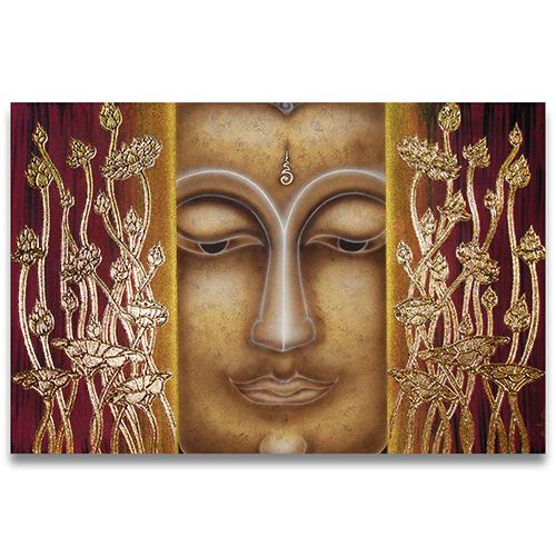 Buddha Painting Canvas buddha wall art buddha acrylic painting large buddha wall art buddha canvas art painting buddha face painting canvas framed buddha wall art