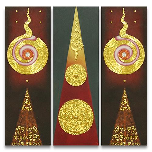 thai patterns thai art pattern thai art thai painting thai artwork thai wall art traditional thai art 3 piece wall art multi piece wall art 3 piece canvas art