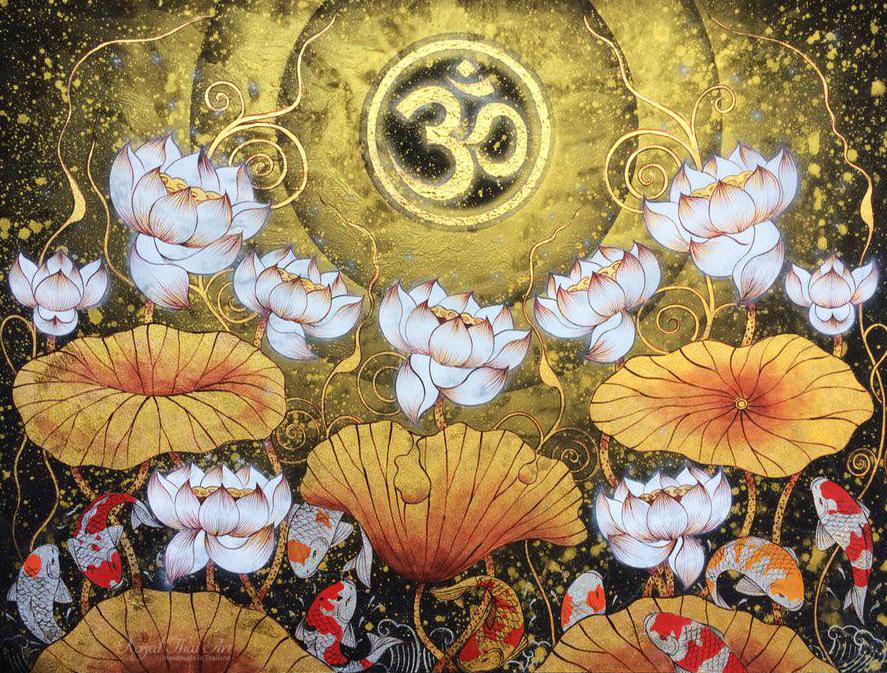 Om Symbol Lotus Aart