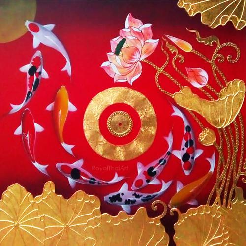 good luck money fish art koi fish paintings on canvas famous koi fish painting chinese koi fish painting koi fish painting feng shui 9 koi fish painting