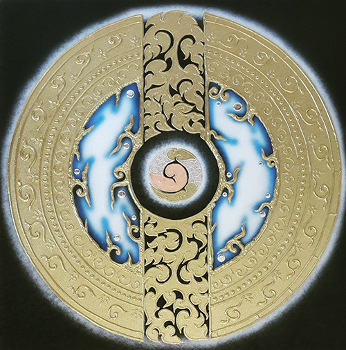 air element symbol abstract art thai art design thailand wall art most popular painting in thailand thai pattern thai artist thailand art thai paintings on canvas thai artists paintings