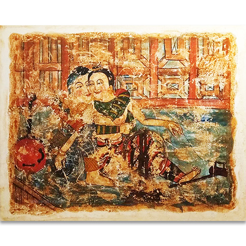 romantic love painting best love paintings old romantic paintings lanna art thai art design thailand wall art most popular painting in thailand