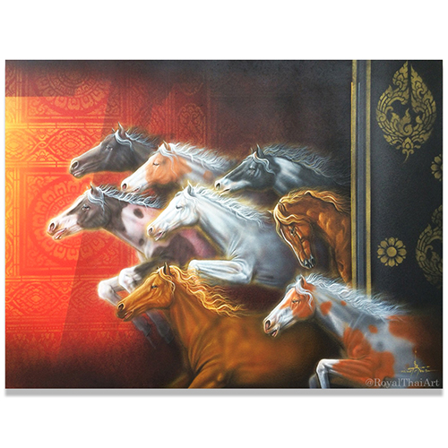 8 horse painting 8 horses painting for sale 8 running horses painting chinese horse painting horse painting in bedroom horse wall art horse artwork abstract horse painting