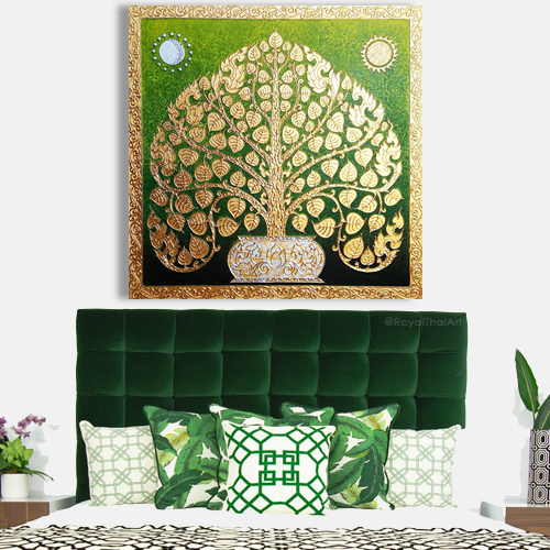 wall paintings online canvas painting online acrylic paintings for sale affordable painting Bodhi tree bodhi leaf tree art tree wall painting