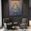 buddha abstract painting lord buddha painting feng shui buddha good luck buddha canvas wall art buddha acrylic painting online buddha paintings for living room