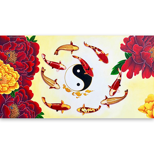 koi fish fine art koi fish paintings on canvas koi wall art fish diamond painting fish art painting large fish wall art koi painting for sale yin yang art
