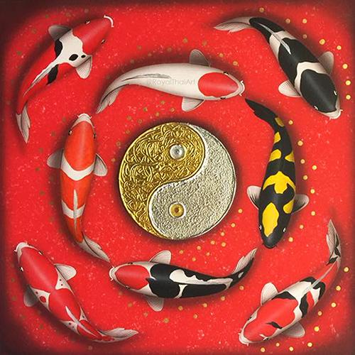 yin yang koi fish feng shui koi fish painting feng shui koi painting feng shui koi fish pictures feng shui carp wall art koi painting koi fish artwork