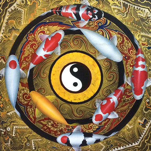 yin yang koi wall art painting koi fish wall art koi fish wall decor koi fish canvas art koi canvas art carp wall art koi fish wall painting koi fish painting in bedroom