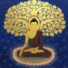 buddha art buddha under bodhi tree painting buddha wall art buddha artwork buddha canvas painting buddhist painting buddha canvas wall art buddha painting