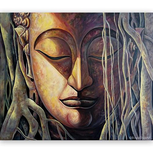thai buddha art thai buddhist art thai buddha painting buddha face painting buddha acrylic painting buddha oil painting large buddha wall art abstract buddha painting