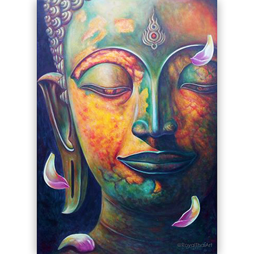 Thailand Buddha Painting Original Artwork For Sale Online L Royal Thai Art