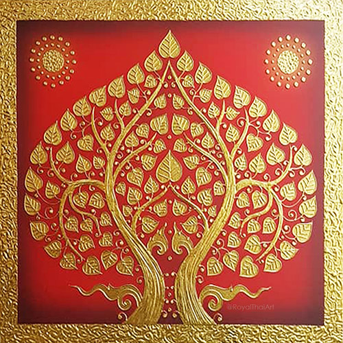 gold tree painting golden tree painting gold tree wall art gold leaf tree painting bodhi tree painting buddha tree painting bodhi tree art bodhi tree wall art most popular painting in thailand