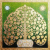 oriental style Bodhi tree bodhi leaf tree art tree wall painting buddha tree acrylic tree painting buddha bodhi tree