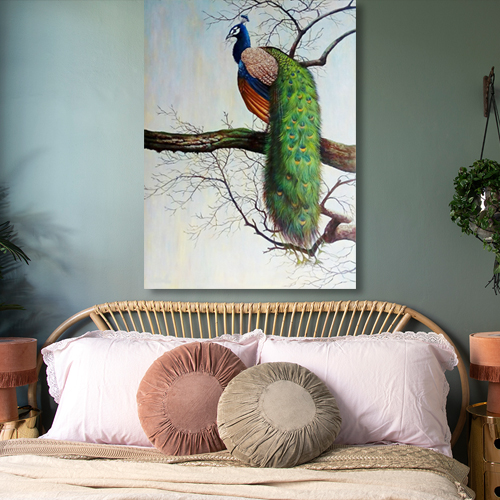 Peacock Canvas Painting