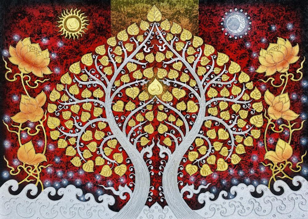 buy bodhi tree art thailand