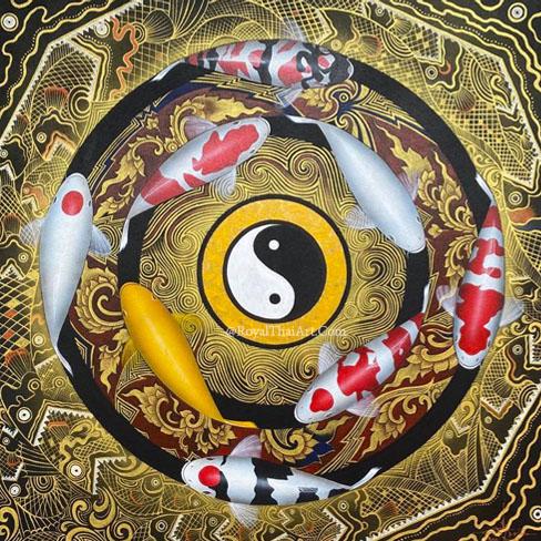 yin yang koi wall art painting koi fish wall art koi fish wall decor koi fish canvas art koi canvas art carp wall art koi fish wall painting koi fish painting in bedroom