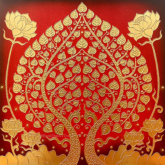 buddha bodhi tree asian art bodhi tree painting buddha tree painting bodhi tree art bodhi tree wall art most popular painting in thailand