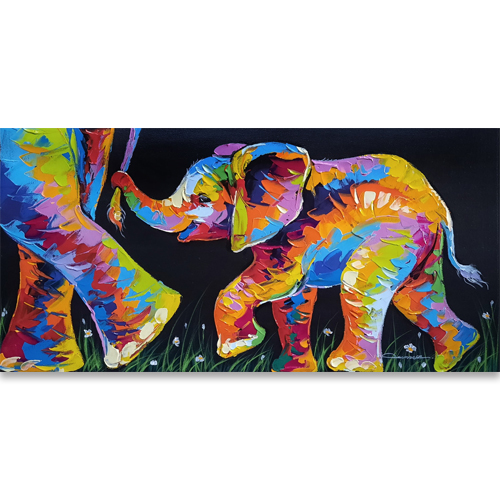 elephant painting elephant wall art elephant canvas painting paintings of elephants colorful elephant painting elephant canvas art