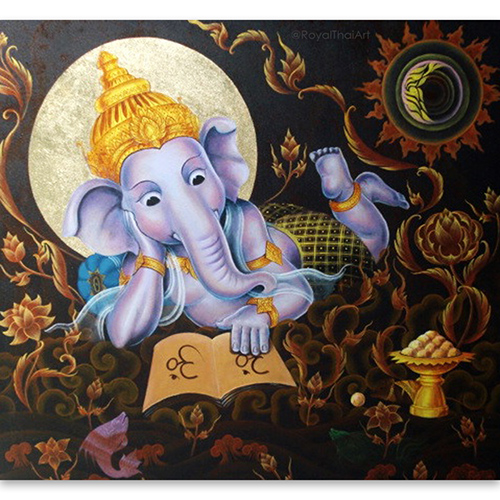 ganesha mural painting ganesha artwork abstract ganesha paintings on canvas ganesh canvas wall art ganesh painting on canvas lord ganesha wall art