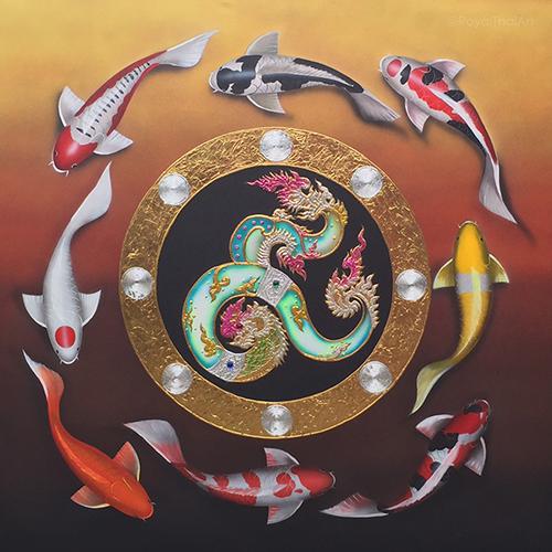 abstract koi fish painting koi painting koi fish acrylic painting koi fish artwork koi artwork koi fish paintings on canvas koi wall art 9 koi fish painting