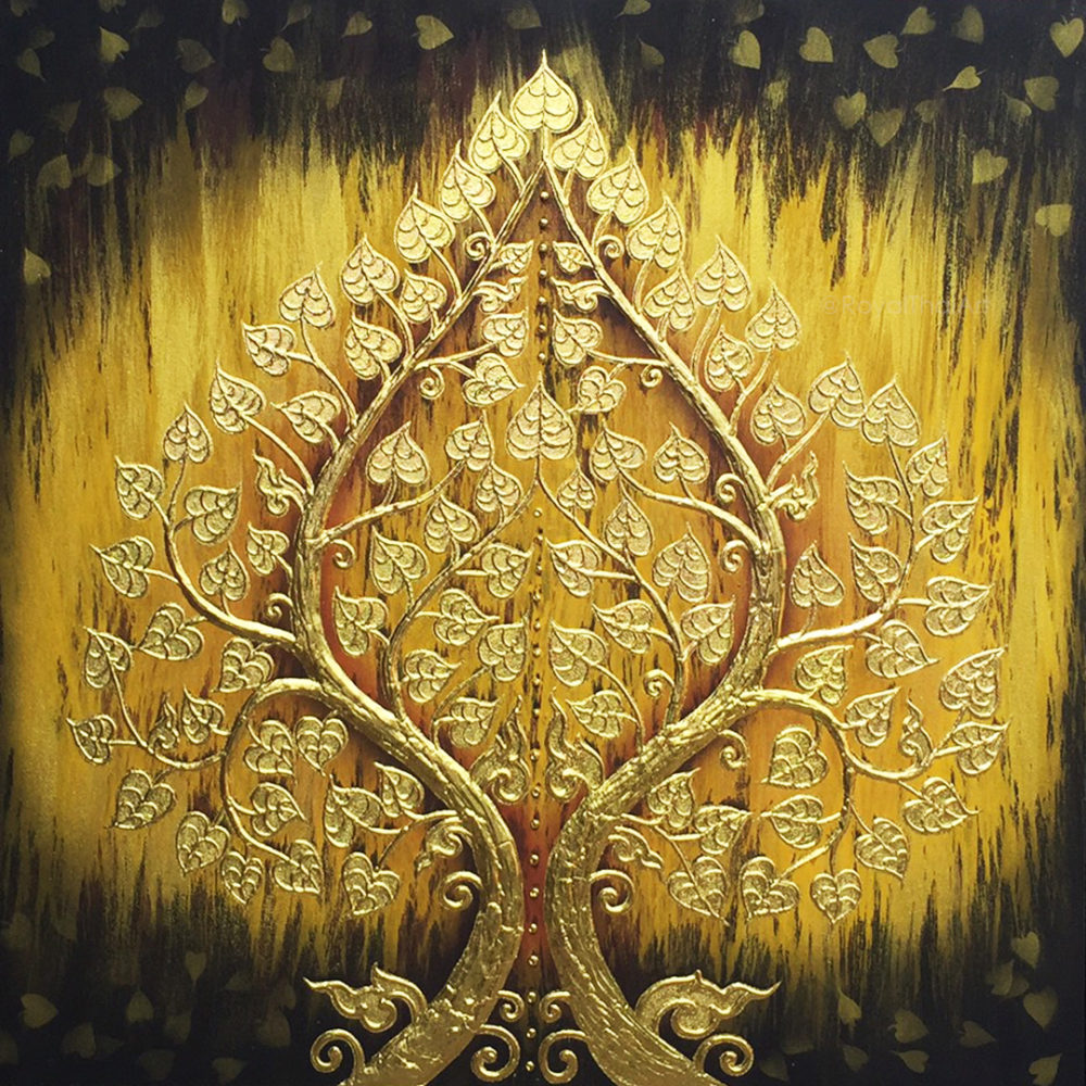 bodhi tree artwork abstract tree painting acrylic tree painting buddha bodhi tree buddha tree canvas art tree art tree wall painting buy art thailand