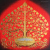 bodhi tree canvas art abstract tree painting acrylic tree painting buddha bodhi tree buddha tree tree art tree wall painting buy art thailand