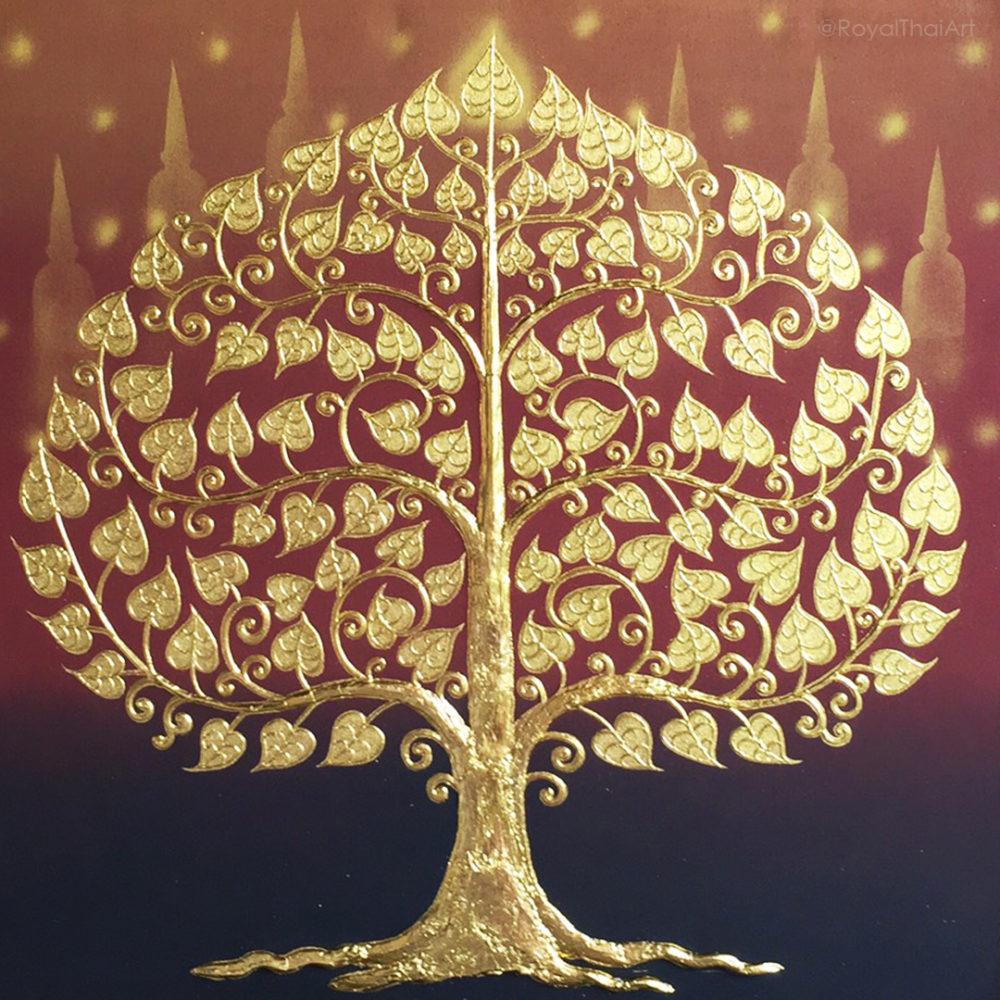 Buddha Tree Painting