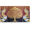 buddha tree painting canvas art abstract tree painting acrylic tree painting buddha bodhi tree buddha tree tree art tree wall painting buy art thailand