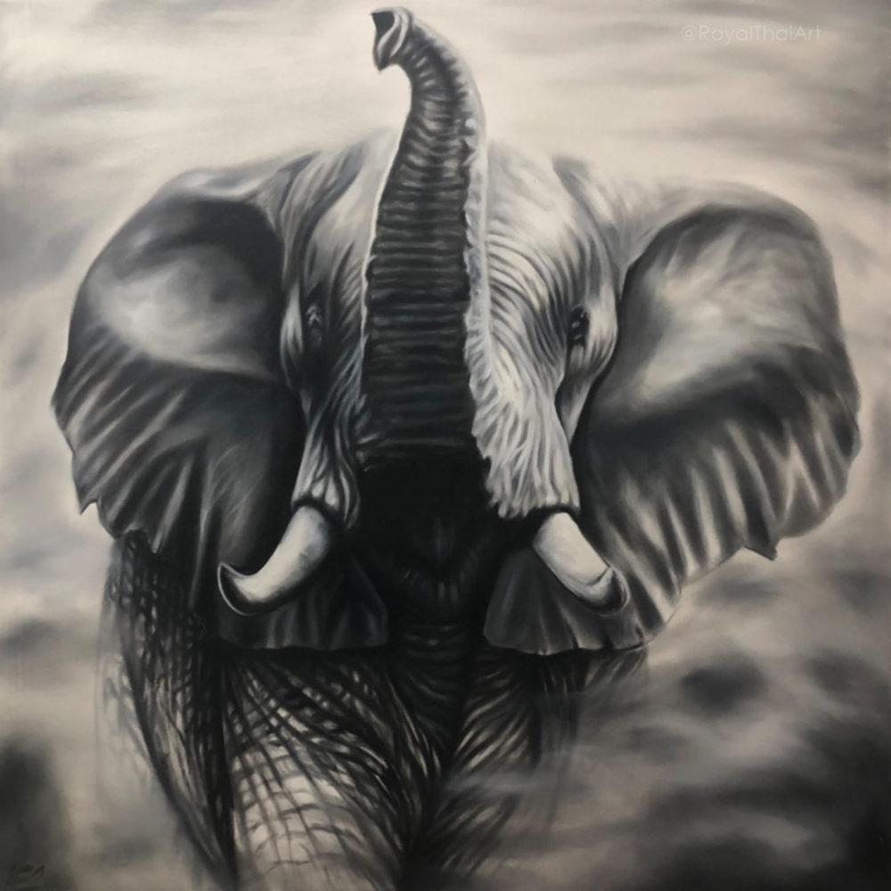 black and white elephant wall art elephant painting elephant wall art elephant canvas painting paintings of elephants colorful elephant painting buy art online