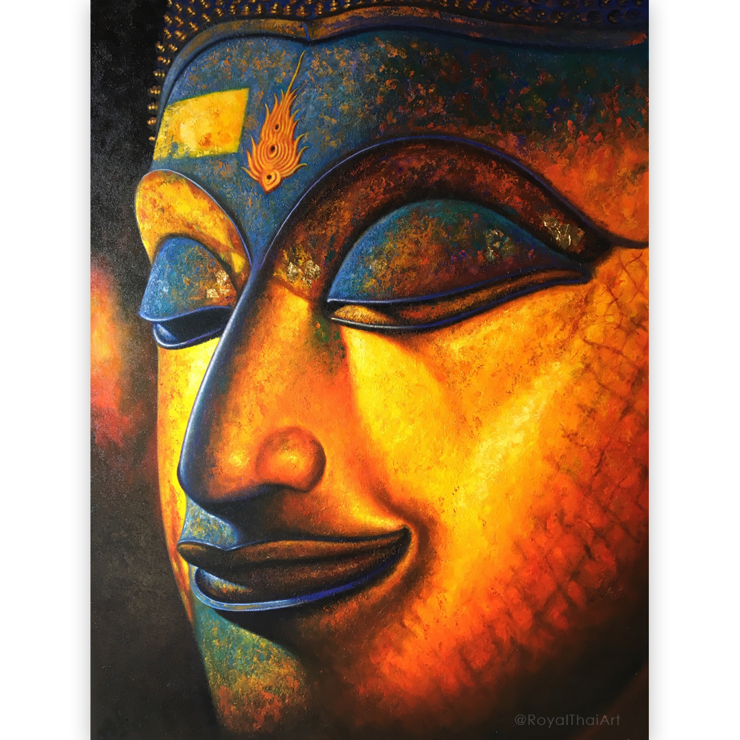 Buddha Face Canvas Painting