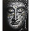 black white buddha painting buddha images buddha art buddha painting thai buddha Thailand buddha wall art buddha picture buddha decor buddha canvas painting