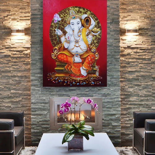 ganesha painting ganesha canvas painting lord ganesha painting abstract ganesha ganesh wall art ganesha paintings acrylic