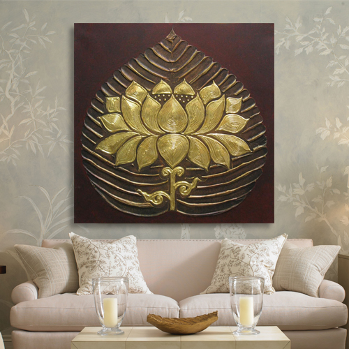 Oversize Painting Hand Made Wall Art Original Large Canvas Painting Lotus Flower Painting Acrylic Painting,oil painting,LF012