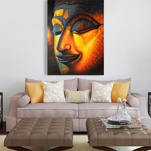 buddha face buddha images buddha art buddha painting thai buddha Thailand buddha wall art buddha picture buddha decor buddha canvas painting