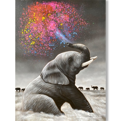 elephant canvas wall art elephant painting elephant wall art elephant canvas painting paintings of elephants colorful elephant painting buy art online