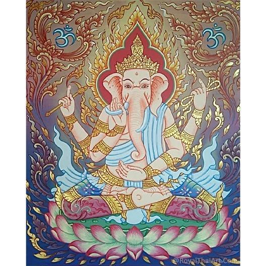 ganesha asian art acrylic abstract ganesha wall painting buy art online local artists paintings for sale royal thai art