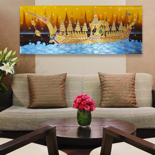 royal suphannahong boat thai artist thailand crafts thailand wall art thailand art gallery thai art design thai wall art décor traditional thai paintings for sale